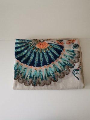 Pañoleta beige claro-turquesa