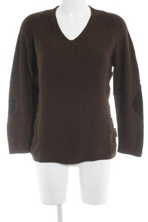 Eti Maglione di lana marrone stile casual