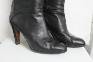 Etienne Aigner Damen Vintage Slouch Stiefel Leder Schwarz 40 Top Zustand