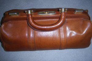 Aigner Frame Bag brown leather