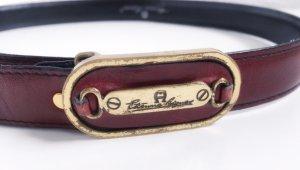 Etienne Aigner Gürtel Luxus Leder weinrot Gold Taillengürtel Vintage
