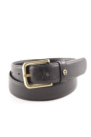 Etienne Aigner Cinturón de cadera negro elegante