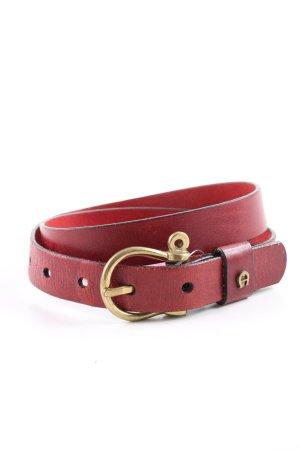 Etienne Aigner Cintura in ecopelle rosso elegante