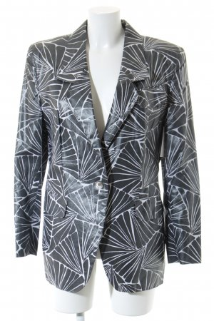Etienne Aigner Long Blazer grey-white abstract pattern extravagant style