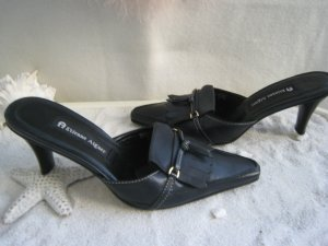 Etienne Aigner Heel Pantolettes black leather