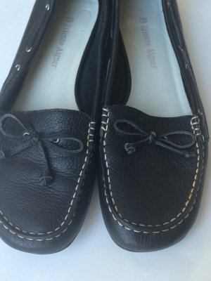 Aigner Moccasins dark blue leather
