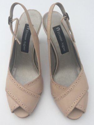 Etienne Aigner High-Heeled Sandals nude leather