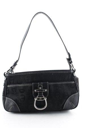 Etienne Aigner Shoulder Bag black-silver-colored retro look