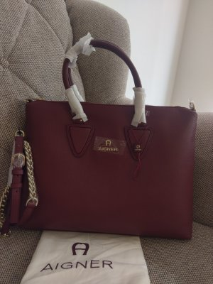 Etienne Aigner Sefora Medium Burgundy Tasche Crossbody weinrot gold bordeaux