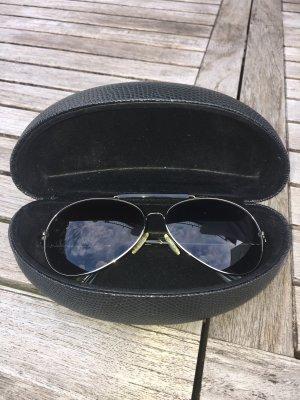 Etienne Aigner Aviator Glasses black-silver-colored