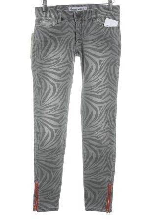 Etienne Marcel Skinny Jeans schwarz-grau abstraktes Muster Casual-Look