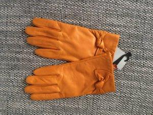 ÉtienneAigner Leder Handchuhe gelb Neu