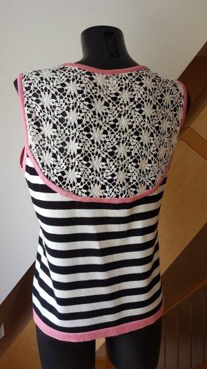 Etincelle Couture Lace Top multicolored cotton