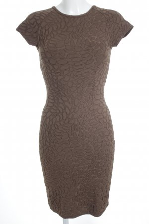 Etincelle Couture Stretch Dress brown animal pattern animal print