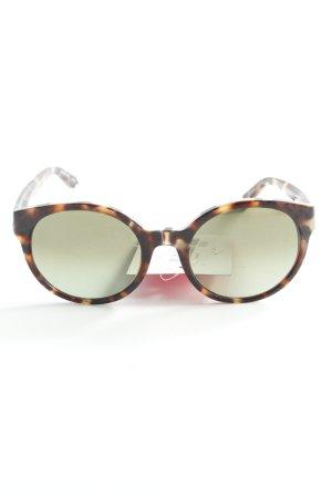 Etnia Barcelona ovale Sonnenbrille cognac-schwarz Leomuster Street-Fashion-Look