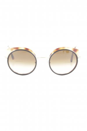 Etnia Barcelona runde Sonnenbrille braun-blassgelb Casual-Look