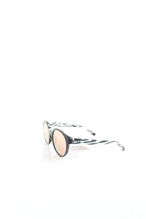 Etnia Barcelona runde Sonnenbrille schwarz-weiß Animalmuster Urban-Look