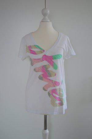 Etnies T-Shirt pastell Logo Brand Schriftzug rosa grün grau