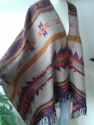 HM Poncho multicolore