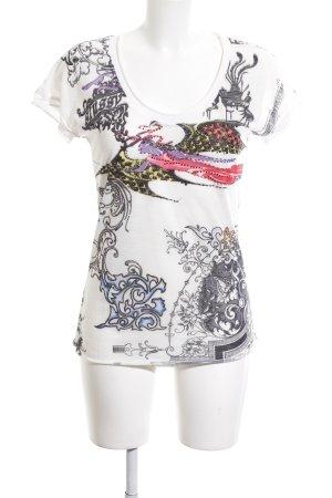 Etoile du Monde T-Shirt Motivdruck Casual-Look