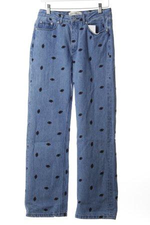 Être Cécile High Waist Jeans blau-schwarz extravaganter Stil