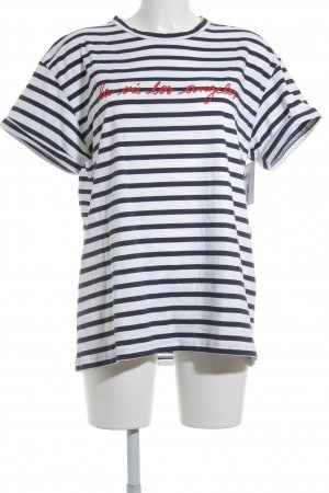 Être Cécile T-Shirt striped pattern navy look