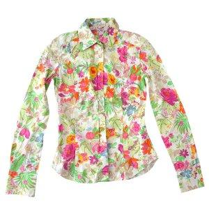 ETRO Bluse, Hemd, Blumenmuster, Baumwolle, Gr. S