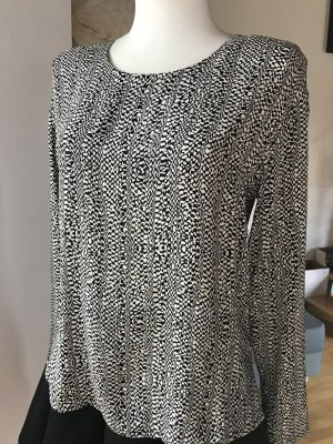 Etro Bluse schwarz creme Seidenshirt