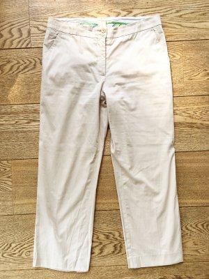 Etro 7/8 Length Trousers cream-oatmeal cotton