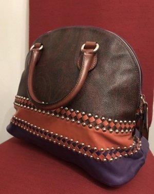 Etro Damenhandtasche Vintage Lila & Orange Original