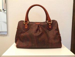 Etro Handtasche aus Leder mit Paisley-Print