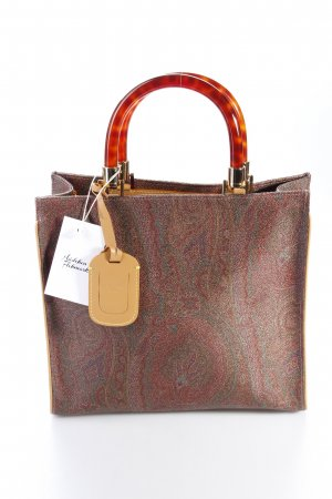 Etro Handtasche Shopping Bag C/Tracolla Havanna Dark Red Paisleymuster