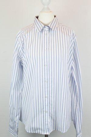 Etro Hemd Bluse Gr. ital. 46 / dt. 40 weiß blau Streifen