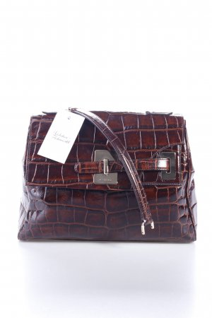 "Etro Henkeltasche ""Satchel Top Handle Kroko Dark Brown"" dunkelbraun"