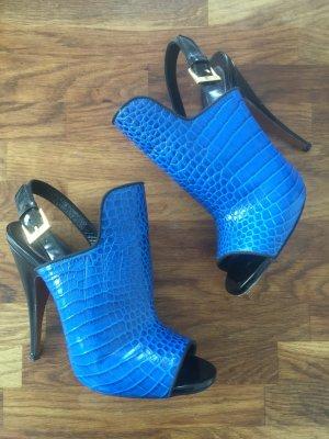 Etro High Heels, blau, Gr. 38 1/2, 1x getragen