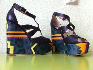 Etro Keil Sandalette im Boho-Ethno Style