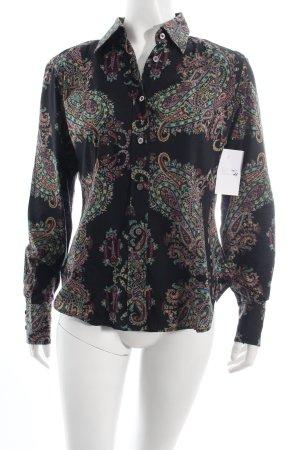 Etro Langarm-Bluse Paisleymuster Street-Fashion-Look