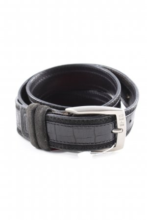 Etro Leather Belt black-silver-colored street-fashion look