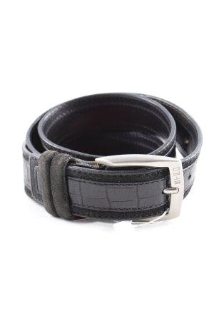 Etro Cinturón de cuero negro-color plata look Street-Style
