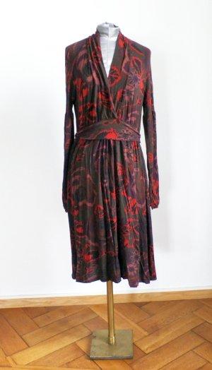Etro Robe portefeuille multicolore cachemire