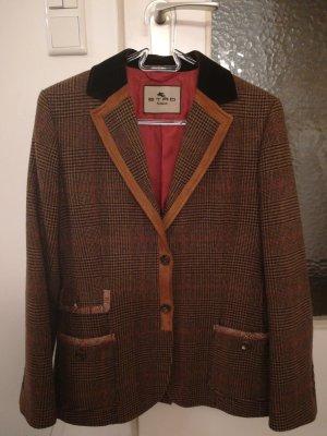 Etro Milano Blazer en laine bronze-chameau laine
