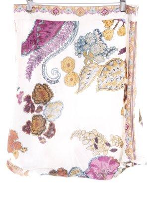 Etro Milano Jupe évasée blanc motif floral élégant