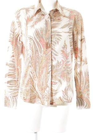 Etro Milano Langarm-Bluse florales Muster Casual-Look