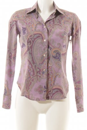 Etro Milano Long Sleeve Blouse grey lilac-mauve floral pattern casual look