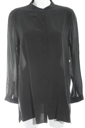 Etro Milano Langarm-Bluse schwarz Elegant