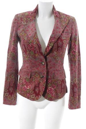 Etro Milano Long-Blazer florales Muster extravaganter Stil