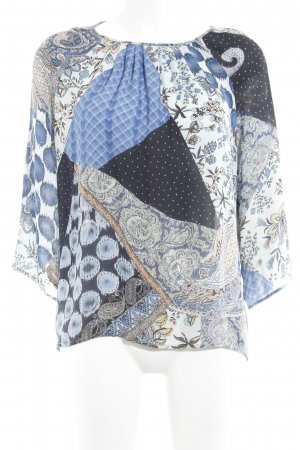 Etro Blusa ancha Mezcla de patrones estilo extravagante
