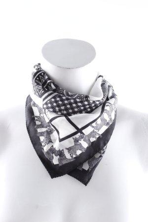 Etro Seidentuch weiß-schwarz abstraktes Muster Casual-Look