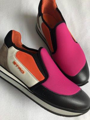 ETRO Sneaker Größe 38 Pink, Schwarz und Orange