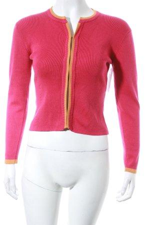 Etro Strick Cardigan magenta-hellorange schlichter Stil